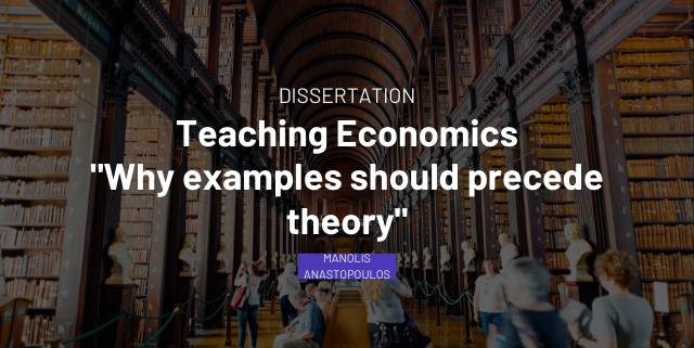 Teaching economics - Why examples should precede theory